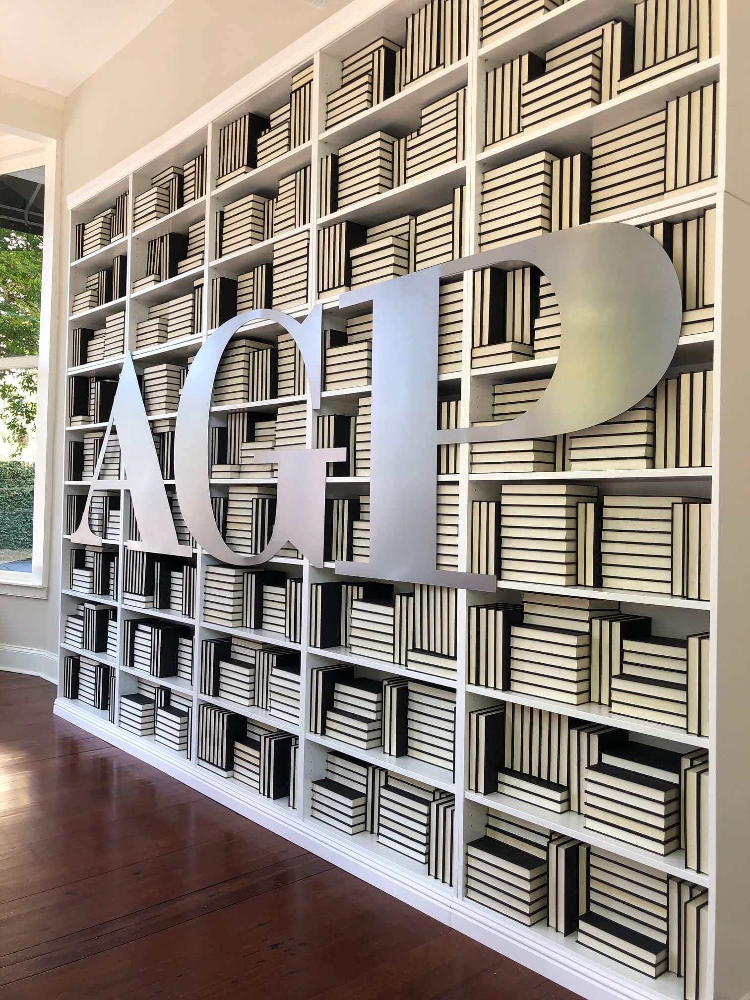Bookshelves with Logo